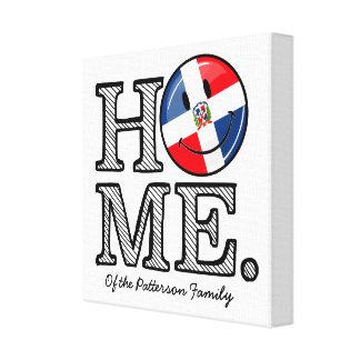 Dominican Republic Smiling Flag Housewarming Canvas Print