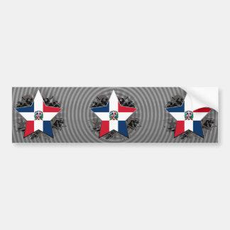 Dominican Republic Star Bumper Sticker