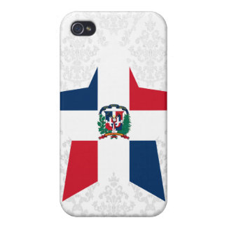Dominican+Republic Star iPhone 4 Case