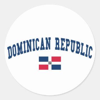 Dominican Republic Style Classic Round Sticker