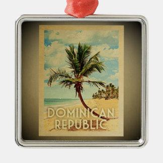 Dominican Republic Vintage Travel Ornament