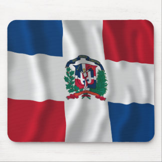 Dominican Republic Waving Flag Mousepads