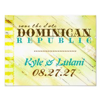 DOMINICAN Save The Date 11 Cm X 14 Cm Invitation Card
