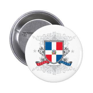 Dominican Shield 6 Cm Round Badge