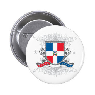 Dominican Shield 6 Cm Round Badge