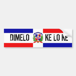 DOMINICAN STICKER BUMPER STICKER