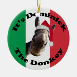 dominick the donkey round ceramic decoration