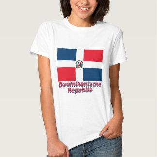 Dominikanische Republik Flagge mit Namen Shirts