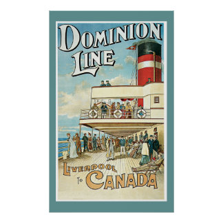 """Dominion Line"" Vintage Travel Poster"