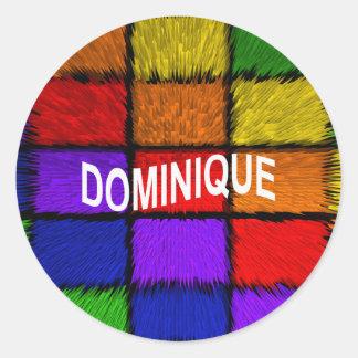 DOMINIQUE CLASSIC ROUND STICKER
