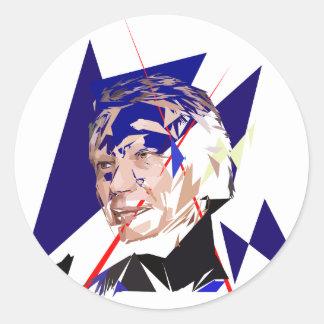 Dominique de Villepin Classic Round Sticker