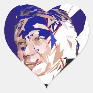 Dominique de Villepin Heart Sticker