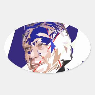 Dominique de Villepin Oval Sticker