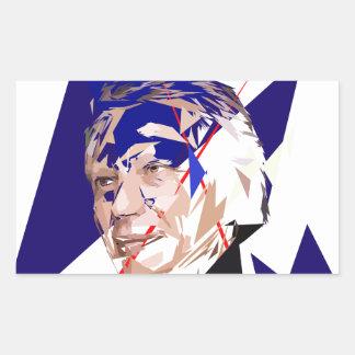 Dominique de Villepin Rectangular Sticker