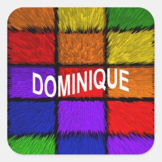 DOMINIQUE SQUARE STICKER