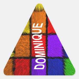 DOMINIQUE TRIANGLE STICKER