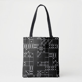 Domino BW Patterned Tote Bag