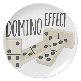 Domino Effect Party Plates