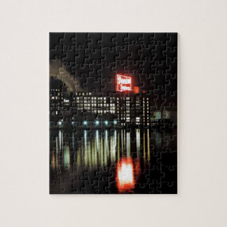 Domino Sugar Baltimore at Night Jigsaw Puzzle