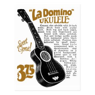 Domino Uke Ad Postcard