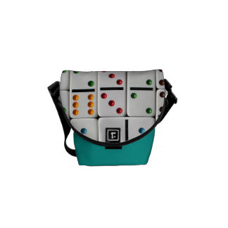 Dominoes Mini Messenger Bag (medium size print)