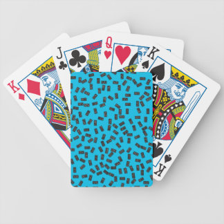 Dominoes on Blue Bicycle Playing Cards