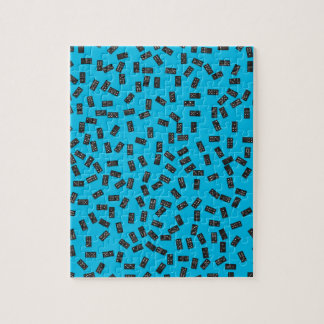 Dominoes on Blue Jigsaw Puzzle