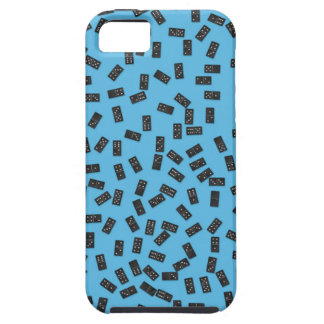 Dominoes on Blue Tough iPhone 5 Case