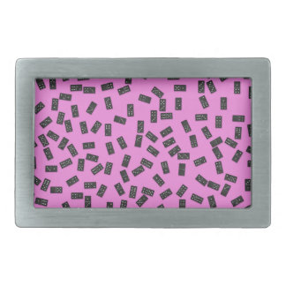 Dominoes on Pink Belt Buckle