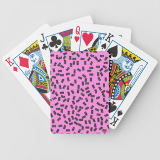 Dominoes on Pink Bicycle Playing Cards
