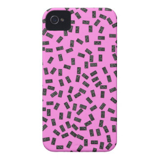 Dominoes on Pink iPhone 4 Cover