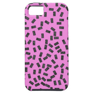 Dominoes on Pink iPhone 5 Cover