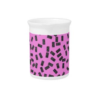 Dominoes on Pink Pitcher