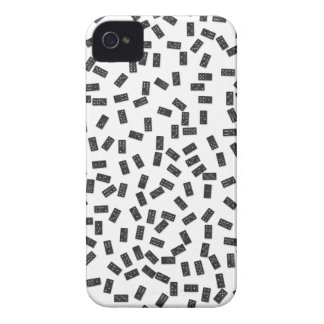 Dominoes on White iPhone 4 Case