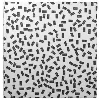 Dominoes on White Napkin