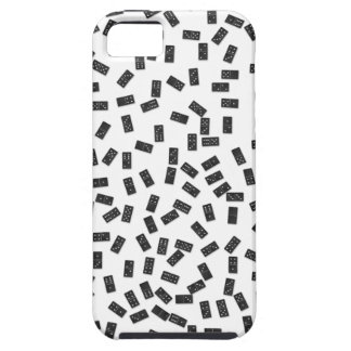 Dominoes on White Tough iPhone 5 Case