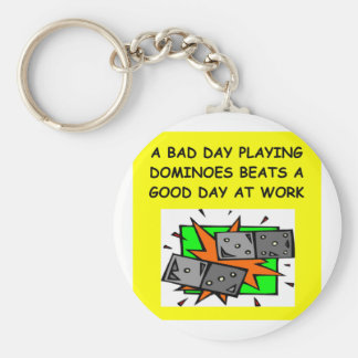 DOMINOES player Key Ring