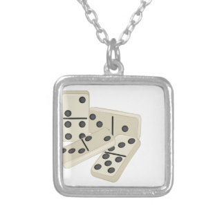 Dominoes Silver Plated Necklace