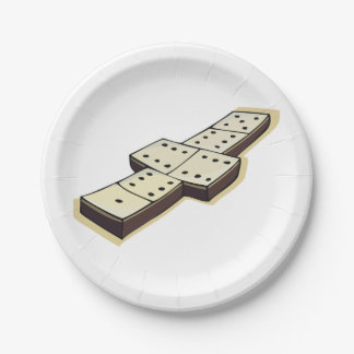 Dominos Game Paper Plates