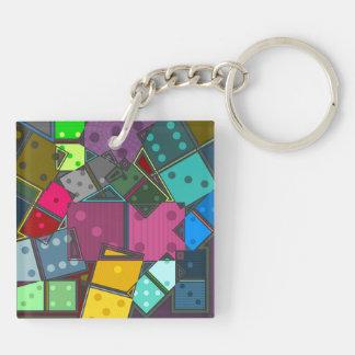 Dominos Key Ring