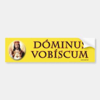 Dominus vobiscum bumper sticker