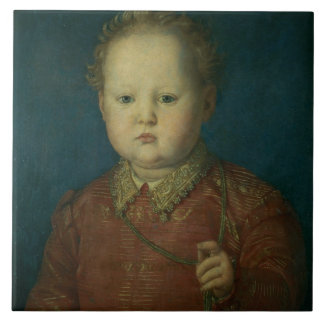 Don Garcia de Medici (?) c.1550 (oil on panel) Large Square Tile