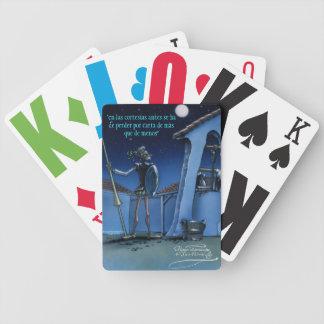 """DON QUIJOTE - by Cervantes """"En las cortesías, ... Bicycle Card Deck"""