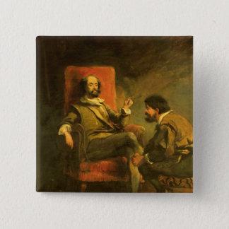 Don Quixote and Sancho Panza 15 Cm Square Badge