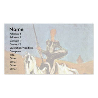 Don Quixote And Sancho Panza By Daumier Honoré (Be Business Cards