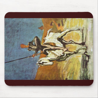 Don Quixote And Sancho Panza By Daumier Honoré (Be Mouse Pad