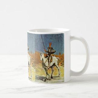 Don Quixote And Sancho Panza By Daumier Honoré (Be Basic White Mug
