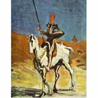 Don Quixote And Sancho Panza By Daumier Honoré (Be Standing Photo Sculpture