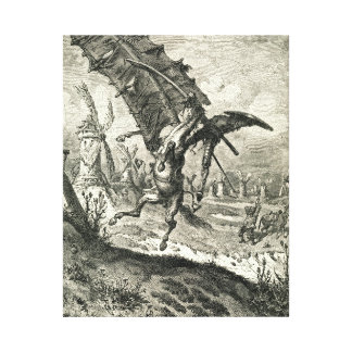 Don Quixote and the Windmills Canvas Print