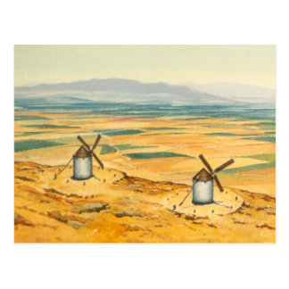 DON QUIXOTE - Animation Background (1979) Postcard